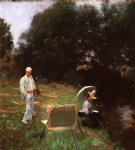 dennis miller bunker painting at calcot by john singer sargent painting