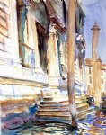 doorway of a venetian palace by john singer sargent painting
