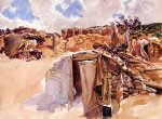 dugout by john singer sargent painting