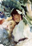 ena wertheimer with antonio mancini by john singer sargent painting