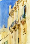facade of a palazzo girgente sicily by john singer sargent painting