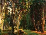 falconieri gardens frascati by john singer sargent painting