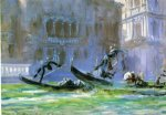 festa della regatta palazzo barbaro in background by john singer sargent paintings-30387