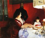 fete famillale the birthday party by john singer sargent painting