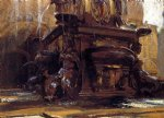 fountain at bologna by john singer sargent painting