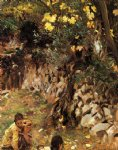gathering blossoms valdemosa by john singer sargent paintings-30411