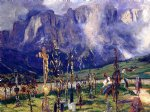graveyard in the tyrol by john singer sargent painting