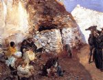 gypsy encampment by john singer sargent painting