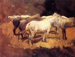 horse paintings - horses at palma by john singer sargent