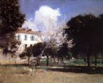 house and garden by john singer sargent paintings-79591