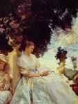 in a garden corfu by john singer sargent painting