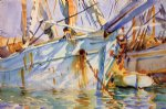 in a levantine port by john singer sargent painting