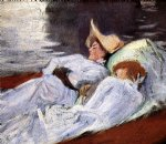 in a punt by john singer sargent painting