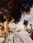 in the garden corfu by john singer sargent painting