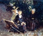 in the generalife granada by john singer sargent painting