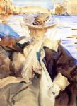 jane de glehn in a gondola by john singer sargent painting