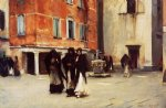 leaving church campo san canciano venice by john singer sargent painting