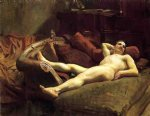 male model resting by john singer sargent painting
