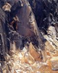 marble quarries at carrara by john singer sargent painting