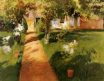 millet s garden by john singer sargent painting