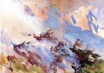 mountain fire by john singer sargent painting