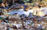 mountain stream by john singer sargent painting