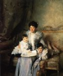 mrs. arthur knowles and her two sons by john singer sargent painting
