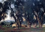 john singer sargent olive trees at corfu paintings
