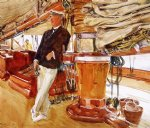 on the deck of the yacht constellation by john singer sargent painting