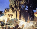 oxen resting ii by john singer sargent painting