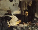 padre sebastiano by john singer sargent painting