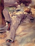pater harrison by john singer sargent painting