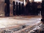pavement of st. mark s by john singer sargent painting