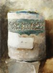 persian artifact with faience decoration by john singer sargent painting