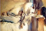 peter harrison asleep by john singer sargent painting