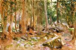 pine forest by john singer sargent painting