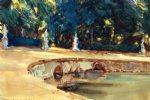 pool in the garden of la granja by john singer sargent painting