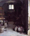john singer sargent pressing the grapes florentine wine cellar paintings: 30690
