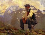 reconnoitering by john singer sargent painting