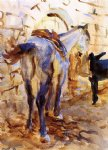 horse paintings - saddle horse palestine by john singer sargent