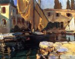 san vigilio a boat with golden sail by john singer sargent painting