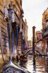 side canal in venice by john singer sargent painting