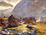 simplon pass chalets by john singer sargent painting