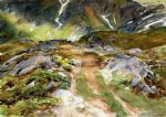 simplon pass the foreground by john singer sargent painting