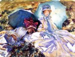 simplon pass the green parasol by john singer sargent painting