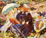simplon pass the lesson by john singer sargent painting