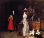 sir george sitwell lady ida sitwell and family by john singer sargent painting