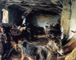 stable at cuenca by john singer sargent painting
