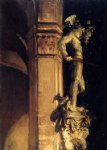 statue of perseus by night by john singer sargent painting