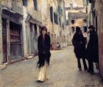 street in venice by john singer sargent painting